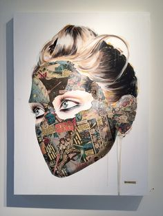 Sandra Chevrier Sandra Chevrier, Brighton, Art Projects, Halloween Face Makeup, Collage, Design Ideas, Portraits, Tech, Fine Art