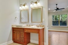 Proselect NYG (New York Glazed) all wood stained vanity cabinet with Mokoro granite countertop. Vanity Cabinet, Vessel Sink, Vanity Lighting, Granite Countertops, Coastal Living, Home Builders, Modern Bathroom, Home Buying, Double Vanity