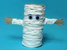 Toilet paper roll mummy turorial - Halloween craft