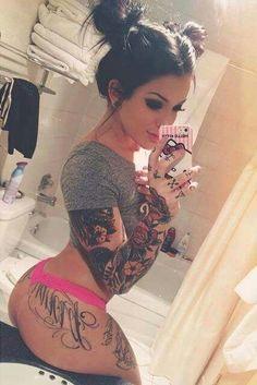 Sexy tattooed girl.