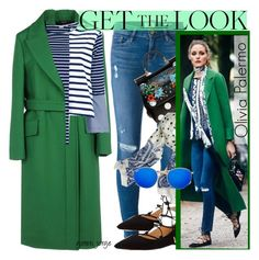 """Olivia Palermo- Get The Look"" by goreti ❤ liked on Polyvore featuring Frame, Jil Sander, Ivanka Trump, Dolce&Gabbana, J.Crew, STELLA McCARTNEY, Ray-Ban and GetTheLook"