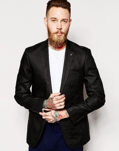 Image 1 ofASOS Slim Fit Suit Jacket In 100% Linen