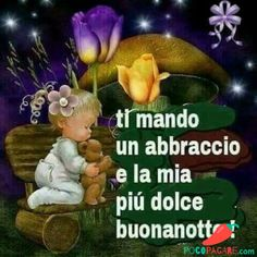 I send you a hug and my sweetest goodnight Good Morning Good Night, Day For Night, Sending You A Hug, Best Wallpaper Hd, Italian Memes, Bedtime Prayer, Good Night Greetings, I Sent You, Night Quotes