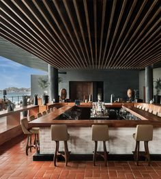 The Cape, a Thompson Hotel Cabo San Lucas, Mexico Dining Drink Eat Hip Hotels Modern Nightlife Rooftop Scenic views Trip Ideas Tropical Waterfront chair Architecture Resort Lobby convention center function hall restaurant
