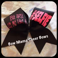 SELFIE Cheer Bow by BowMamaCheerBows on Etsy, $11.50