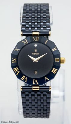 H. Stern Sapphire Diamond 18k Gold & SS Ladies Quartz Watch