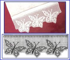 Ideas Knitting Lace Stitches Double Crochet For 2019 Crochet Edging Patterns, Filet Crochet Charts, Crochet Lace Edging, Crochet Motifs, Crochet Borders, Thread Crochet, Lace Knitting, Crochet Designs, Crochet Doilies