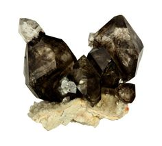 Smokey Quartz / Mineral Friends <3 Crystals And Gemstones, Stones And Crystals, Gem Stones, Crystals Minerals, Rocks And Minerals, Diamond Quartz, Smokey Quartz, Gemstone Colors, Healing Stones