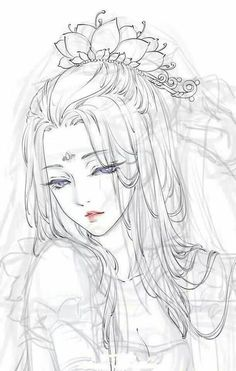 pin by trang on anime, sketches and draw Art Anime Fille, Anime Art Girl, Anime Girls, Chinese Drawings, Chinese Art, Chinese Style, Manga Drawing, Manga Art, Drawing Hair
