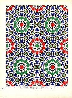 Pattern in Islamic Art - PIA 074 moorish arabesque moroccan muslim geometric tile design