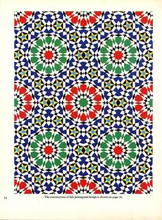 Pattern in Islamic Art - PIA 074 moorish arabesque moroccan muslim geometric tile design #islamicart