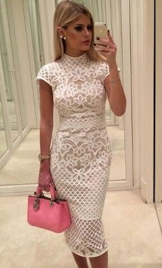 24 ideas bridal shower dress ideas white lace for 2019 Dress Outfits, Fashion Dresses, Dress Up, Bodycon Dress, Dress Beach, Fashion Styles, Fashion Ideas, Casual Outfits, White Lace