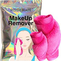 MYSTERE BEAUTE Makeup Eraser Cloth - Chemical Free, Microfiber Face Makeup Remover Towel - Reusable, for Removing Makeup, Dirt & Oil - for All Skin Types - Great Gift - 2 Count Including 1 Travel Size - toalla desmaquillante Makeup Remover Towel, Best Makeup Remover, Makeup Eraser Cloth, Beauty Makeup, Face Makeup, Remove Makeup From Clothes, Christmas Makeup, Cleansing Oil, Makeup Palette