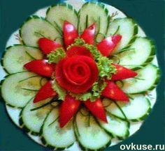 Ideas For Fruit Platter Display Recipe Veggie Art, Fruit And Vegetable Carving, Vegetable Tray Display, Fruit Decorations, Food Decoration, Food Design, Deco Fruit, Veggie Platters, Food Carving