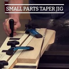 The miniature version of our full-size taper jig—ideal for the shorter legs on chairs, sofas and occasional tables. #CreateWithConfidence #SmallParts #TaperJig #WoodworkingJig #RocklerInnovations Taper Jig, Occasional Tables, Woodworking Jigs, Sofas, Chairs, Miniatures, Diy Projects, Legs, Couches