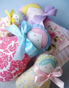 Toy Sewing Pattern for Matryoshka Dolls - Four Sizes- PDF e-Pattern. $4.99, via Etsy.