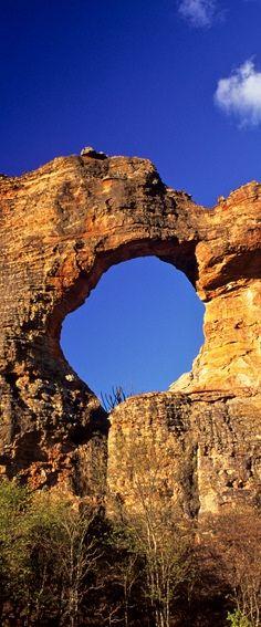Natural Monument of Holed Stone, National Park of the Capivara, Piauí, Brazil