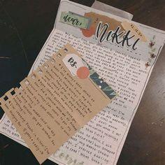 Bullet Journal Notebook, Bullet Journal Ideas Pages, Bullet Journal Inspiration, Art Journal Pages, Bullet Journal School, Aesthetic Letters, Mail Art Envelopes, Snail Mail Pen Pals, Pen Pal Letters