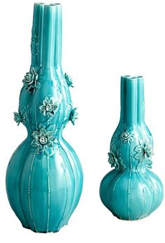 Vases, Turquoise Lilly Design, so decorative, over 3,000 beautiful limited production interior design inspirations inc, furniture, lighting, mirrors, tabletop accents and gift ideas to enjoy pin and share at InStyle Decor Beverly Hills Hollywood Luxury Home Decor enjoy & happy pinning