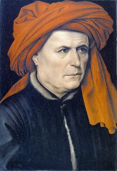 15th century men's headdress - Robert Campin - Portrait of a man (1435)