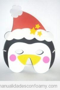 Pingüinos de foamy, manualidad para niños en Navidad