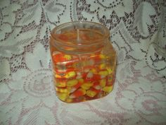 Candy Corn Gel Candle