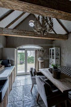 Hoffz - Marianne Knicknie - - The Joy Business,Aktuelle House Design, House, Ivy House, Home, House Styles, Home Deco, Rustic Living, Rustic Kitchen, Rustic House