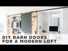 DIY Barn Door |How to install barn door hardware - YouTube