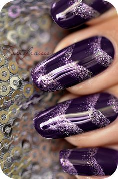 nail art géometique chevron triangle