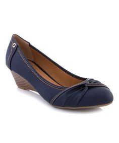 Another great find on #zulily! Navy Knotted Pump #zulilyfinds