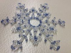 Make your own Wire Base for a Beaded Snowflake Ornament Beaded Christmas Ornaments, Snowflake Ornaments, Christmas Snowflakes, Christmas Crafts, Beaded Snowflake, Christmas Decorations, Free Beading Tutorials, Beading Patterns, Beaded Ornament Covers