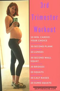 Fast and Easy workout for those last few months! At home workout. Pregnant workout.