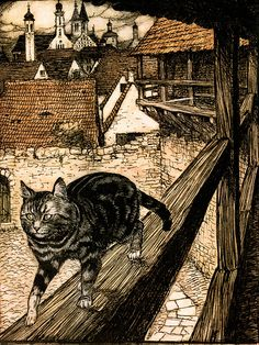 Illustration by Arthur Rackham (1867-1939) who is widely regarded as one of the leading illustrators from the 'Golden Age' of British book illustration which encompassed the years from 1900 until the start of the First World War.