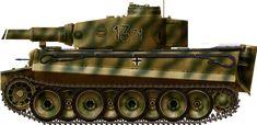 1st SS PzDiv Kharkov april 1943, Tiger I Ausf. E, 1st SS Panzerdivision, Kharkov, April 1943.