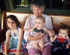 Mamaw, Vanessa, Reagan, and Lincoln - June 2015