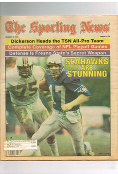 1984 january 9 : the #sporting news magazine/newspaper : seattle seahawks from $5.0