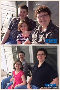 "Trim Healthy Brothers!   ""This is a pic of my kids on Easter, two years apart. The boys have been doing Trim Healthy Mama with me since last July and have both lost a bunch. The oldest (16, right) has lost over 50 lbs and the middle (14, left) has lost 40 and is at 'goal weight' . . . When I say goal weight, I mean in range on the BMI charts. He eats crossovers and such now, and still loses a bit. ;-) But they have done amazingly well . . . I's fun when the oldest one can take back…"