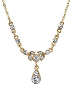 Goldtone & Crystal Belle Époque Drop Necklace #zulily #zulilyfinds