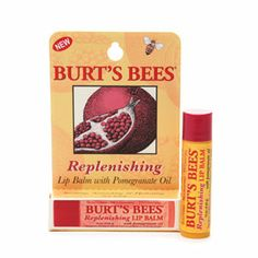 A must-always-have, all year round. Gives a slight red tint. Burt's Bees Lip Balm with Pomegranate Oil.