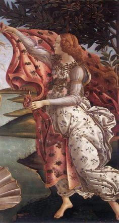 Sandro Botticelli - El Nacimiento de Venus (Detalle) Temple sobre tabla. (Quattrocento)