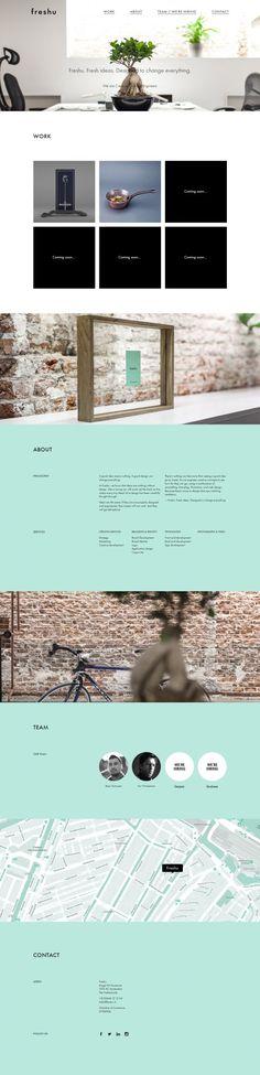 Full Service Creative Agency in Amsterdam - Freshu - Webdesign inspiration www.niceoneilike.com