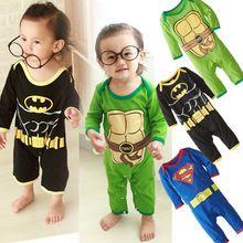Printemps 2015 enfants vêtements bébé barboteuses gros Superman salopette nouveau - né bébé vêtements bébé modélisation Climb vêtements(China (Mainland))