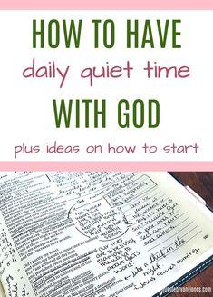 Having a daily quiet time with God - Nicole Bryant-Jones Bible Study Plans, Bible Study Tips, Bible Study Journal, Bible Lessons, Bible Plan, Math Lessons, Prayer Scriptures, Bible Teachings, Bible Prayers
