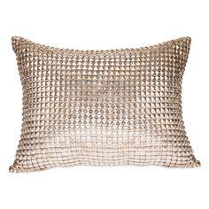 Pyar metallic silver stud  jild grey pillow $230 Dim 14 x 20