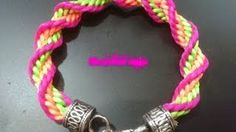 Pulsera kumihimo espiral (facil) - YouTube