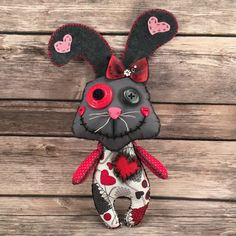 A personal favorite from my Etsy shop https://www.etsy.com/listing/261383440/voodoo-bunny-doll-bunny-doll-junky