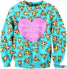 All I Care about it Pizza CrewNeck - Fresh-tops.com