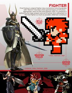 Final Fantasy: A Visual History of the Warriors of Light - IGN. #final_fantasy #fighter