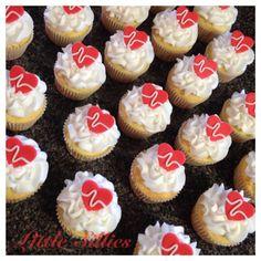 Nursing-Heartbeat cupcakes.
