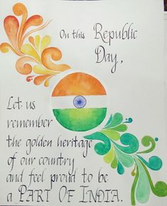 By Avani Sathe. Girly Drawings, Cool Art Drawings, Republic Day Message, Happy Makar Sankranti Images, Classy Wallpaper, Culture Day, Republic Day India, Figure Of Speech, 5 Minute Crafts Videos